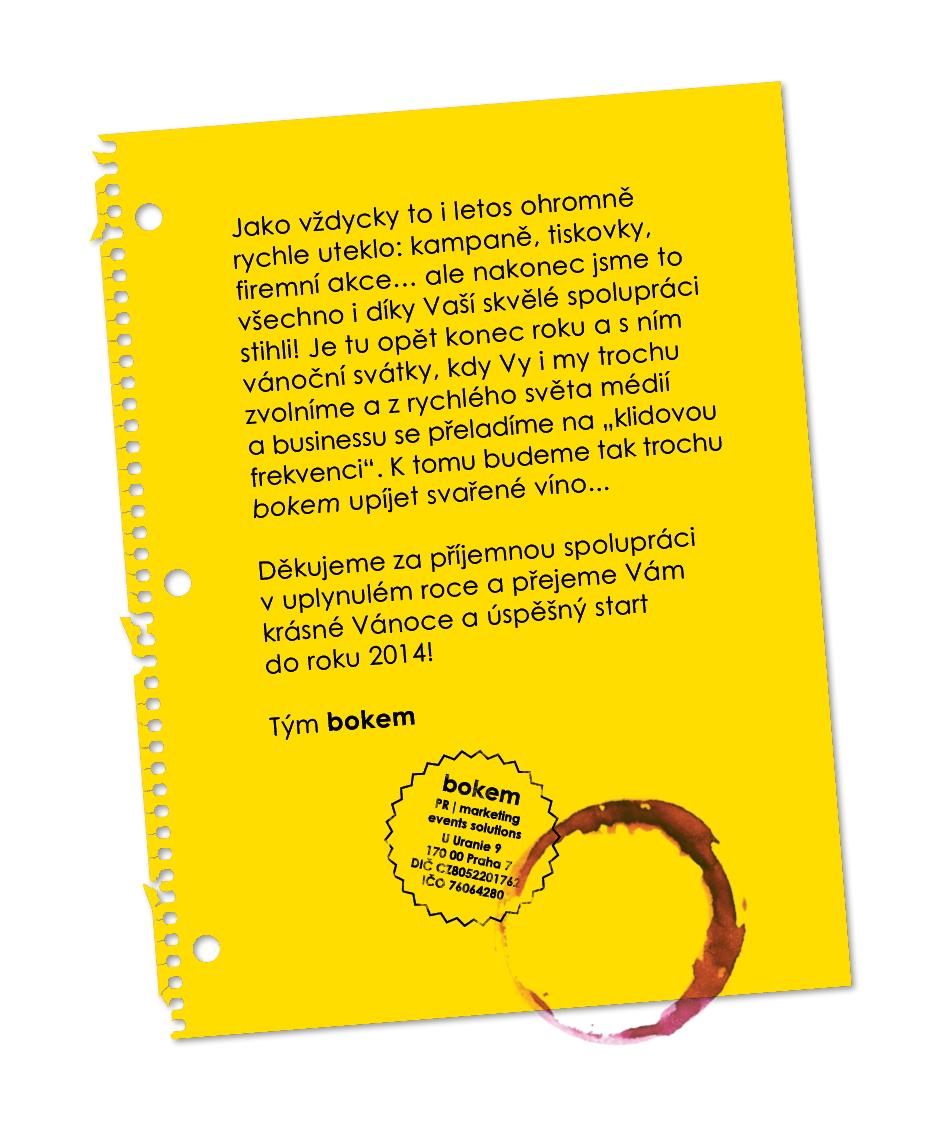 PF 2014 českých firem, úřadů a asociací