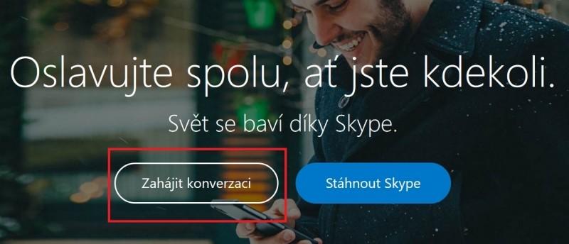 Začínáme na webu služby Skype