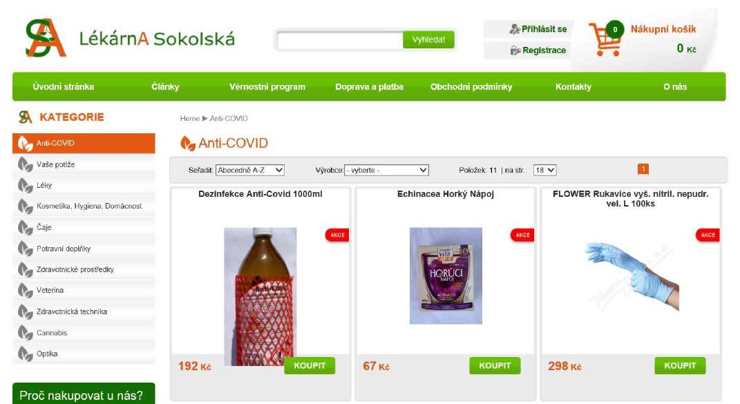 Zneužívání epidemie při prodeji doplňků stravy