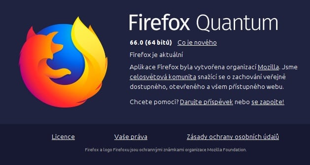 Firefox 66 novinky