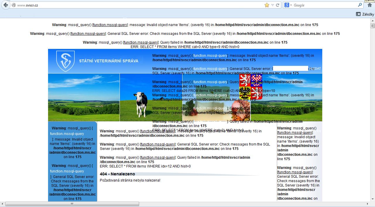 Nový web veterinářů o kontrolách potravin: Mapy SVS