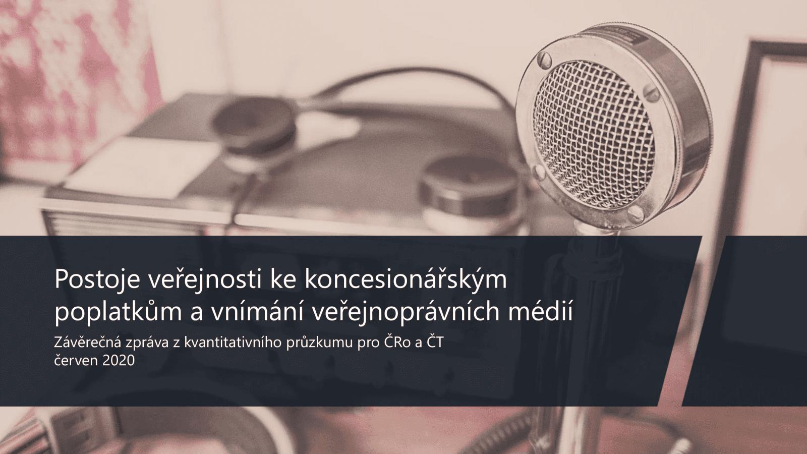 Postoj veřejnosti k televizním a rozhlasovým poplatkům (2020)