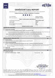 Osvědčení Cebia k prodávané Toyotě Yaris.