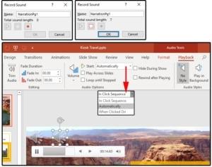 Postup nahrávání mluveného slova pro jednotlivé snímky