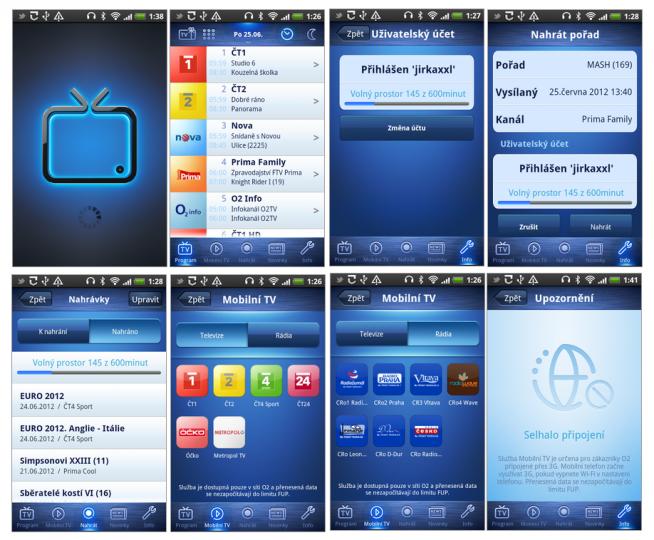 Aplikace O2TV pro Android umožňuje sledovat TV v mobilu bez