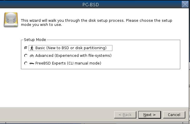 PC-BSD: instalace