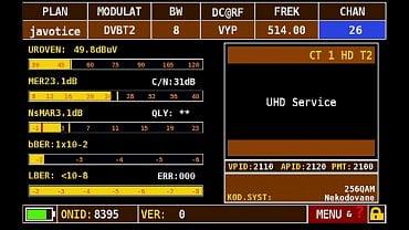 Parametry přechodové DVB-T2 sítě 11 při eliminaci vlivu rušivého signálu.