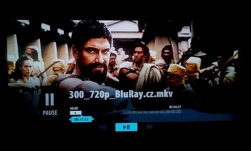 Akční komiksový hit 300: Bitva u Thermopyl byl jedním z mála filmů, které se ve formátu MKV podařilo přehrát.