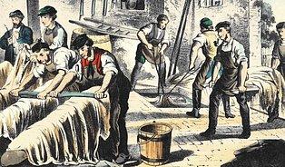 Naši předkové si shygienou abezpečností práce hlavu nelámali