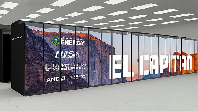 [aktualita] Americké ministerstvo si objednalo superpočítač s výkonem 2 exaFLOPS