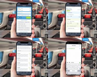 SMS jízdenka přes aplikaci Můj vlak od Českých drah. (04/2021)