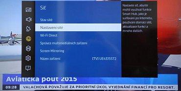 Nápověda v televizoru u Screen Mirroring říká, že tato funkce, pokud není v menu mobilu, nebude pracovat. Tentokrát ale vše fungovalo i po spuštění Wi-Fi Miracast na mobilu LG Flex 2 s Android 5.