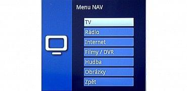 Navigátor (NAV), je nejdůležitější rozcestník.