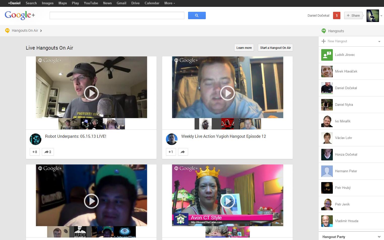 Google+ nový vzhled 2013/05