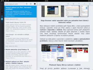 MobileRSS patří mezi nejlepší klienty pro Google Reader