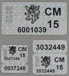 Oficiální značení po kontrole a ověření vah.