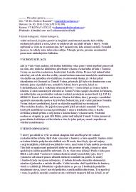 Hromadný e-mail zaslaný zaměstnancům Exekutorského úřadu Přerov.