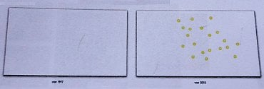 Oproti emisi z roku 1997 byly doplněny žluté kroužky v nepotištěných částech bankovky i v některých částech tiskového obrazce.
