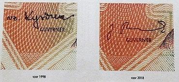 Podpis guvernéra ČNB.