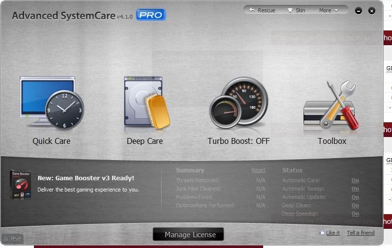 Advanced SystemCare v4.1.0 PRO