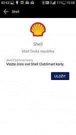 Při zadání zákaznické karty Shell ClubSmart se vám budou načítat body.