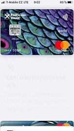 Od 15. 10. 2019 fungují v Apple Pay kreditní i debetní karty Mastercard od Raiffeisenbank.