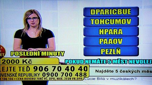 Nejen, že nemůžete přečíst informace na obrazovce, ale ve vysílání není vidět ani logo samotné stanice.