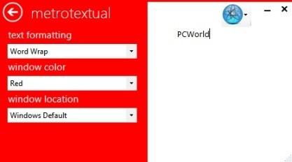 MetroTextual je textový rozhraní s Metro vzhledem