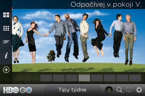 Aplikace HBO GO pro mobilní zařízení s operačním systém iOS.