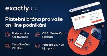 Reklamní banner na služby platební brány Exactly.cz