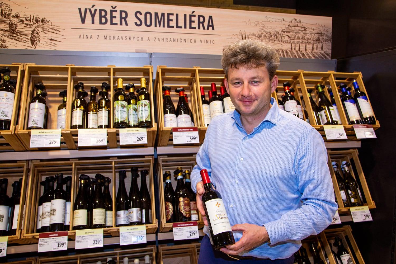 Víno v obchodech Albert