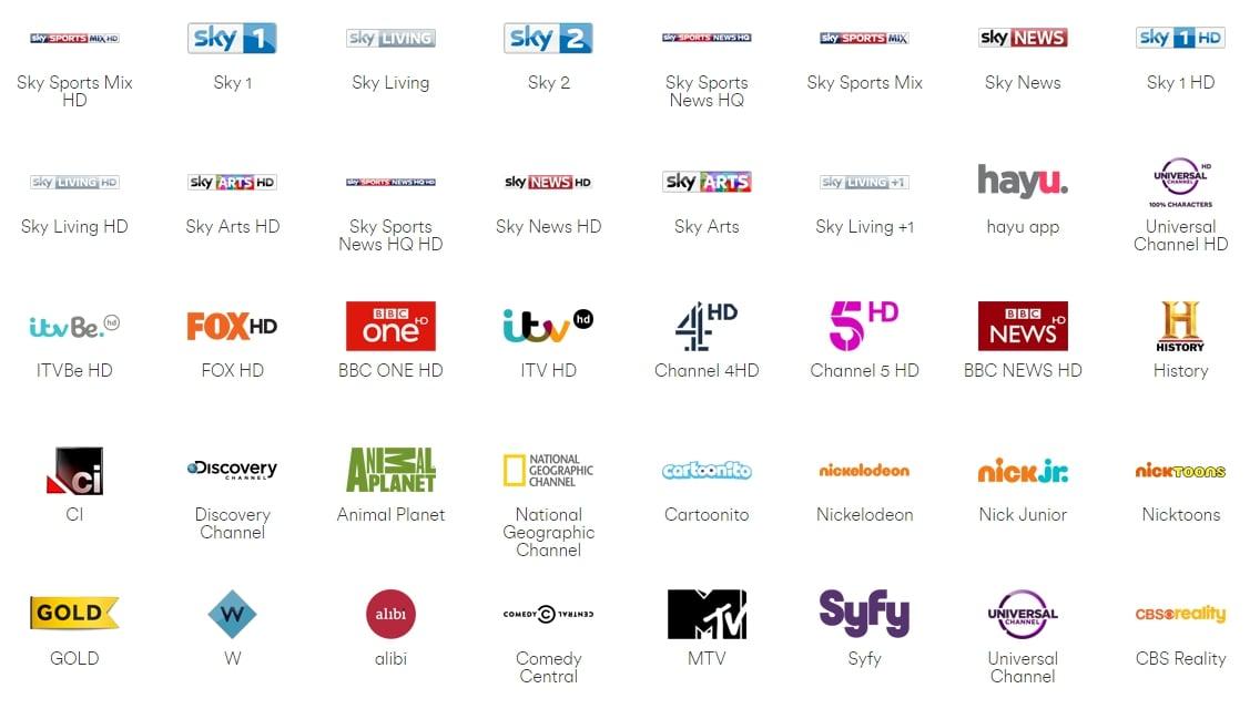 Programová nabídka Virgin TV