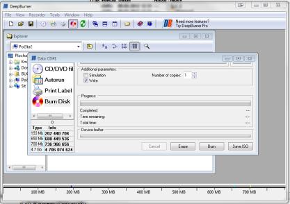 DeepBurner vyplauje CD/DVD/ISO/audio