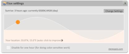f.lux mění teplotu barev a v noci se vám bude pracovat snadněji