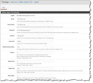 pfSense configure Zabbix agent