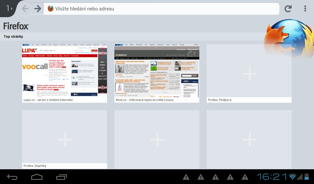 Mozilla Firefox pro Android