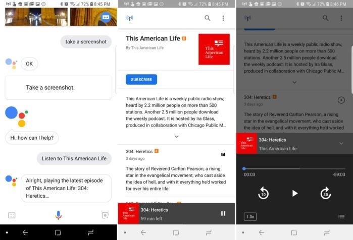Poslech podcastů přes Asistenta Google