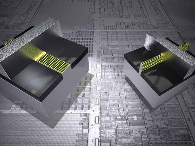 Porovnání dvou naprosto rozdílných světů: takzvané tranzistory Tri Gate obsahují trojrozměrný blok a pomalu se začínají vyrábět sériově