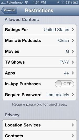 V operačním systému iOS můžete zablokovat přístup k obsahu na iTunes a tím navěky získat trofej toho nejhoršího rodiče v celém vesmíru.