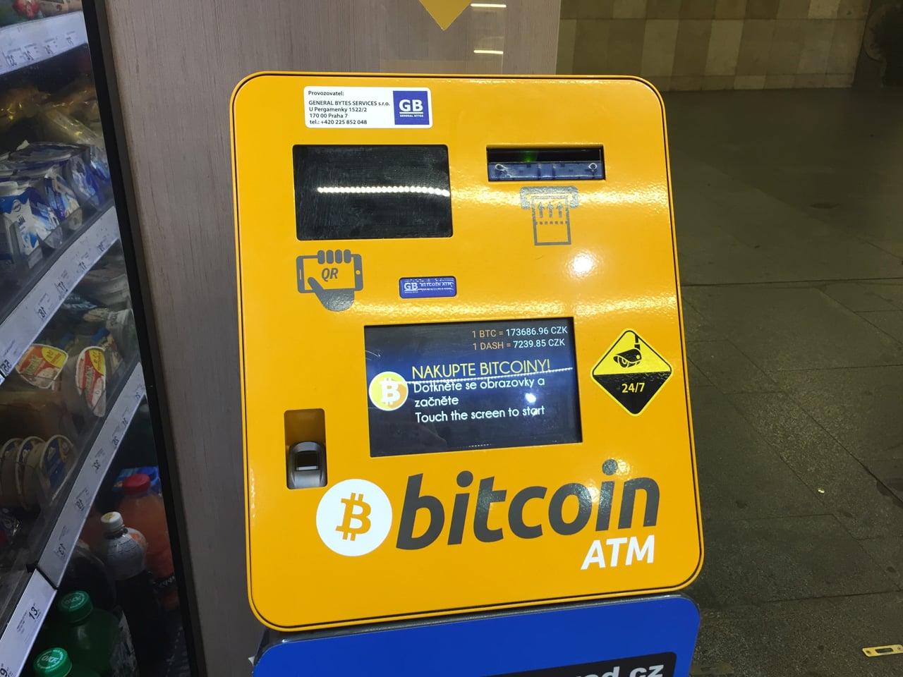 Bankomaty na bitcoin v pražském metru