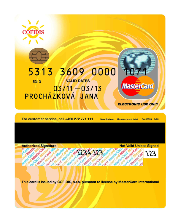 Cofidis platební karta
