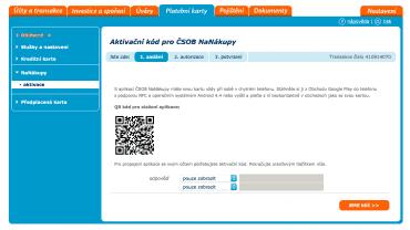 """V IB ČSOB klikněte vlevo na záložku """"NaNákupy"""" a klikněte na aktivaci. Nechte si zaslat SMS klíč."""