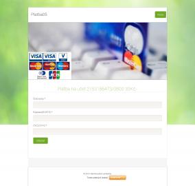 Podvodný web na Webnode.cz, používající sociální inženýrství.