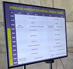Programové schéma chystaného programu Prima Krimi.