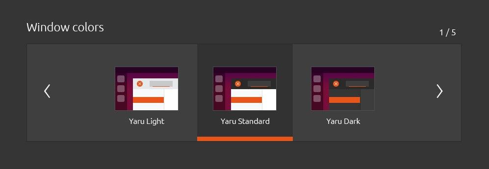 Ubuntu 20.04 LTS návrh vzhledu