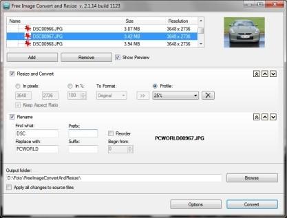 Free Image Convert and Resize zvládá hromadný převod fotografií