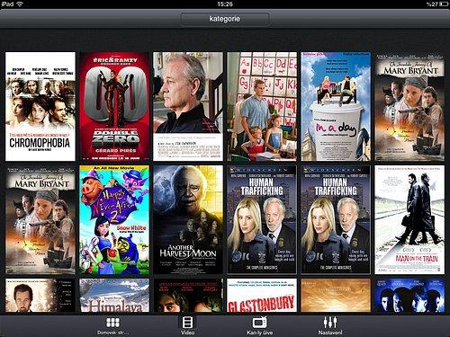 Náhled aplikace Filmbox Live pro mobilní zařízení
