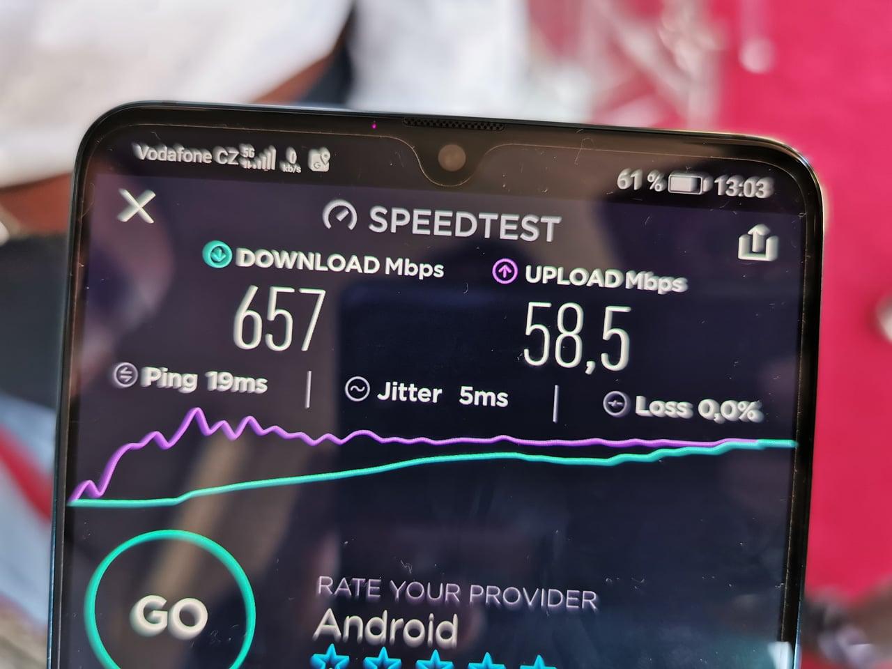 Vodafone a testy 5G sítě na 3,7 GHz v Karlových Varech