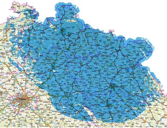 Genus - mapa pokrytí mux 3 - Ještěd, Černá hora