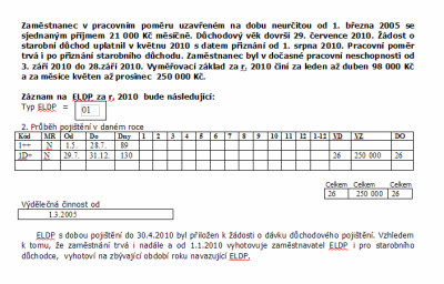 Příklad vyplnění ELDP